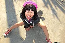 Skater Girl Xhivi Kim Flashing Outdoors And Fucking Big Cock