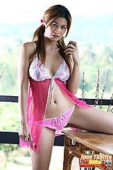 Beside Table Long Hair In Pigtails Wearing Pink Panties