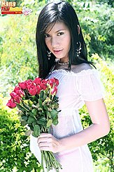 Holding Red Roses