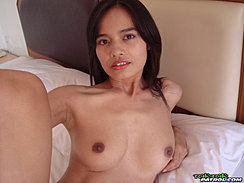 Lana Lying On Bed Bare Breasts